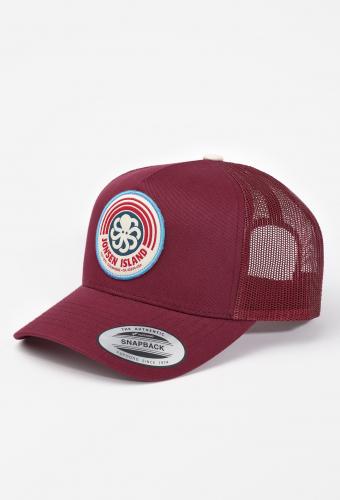 """Trucker Hat """"RAINBOW"""" RedWine"""