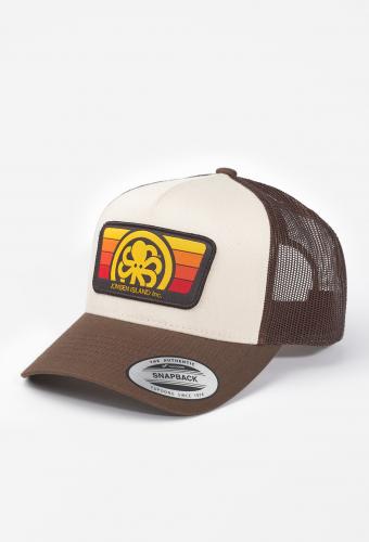 "Trucker Hat ""BURNED"" Brown"