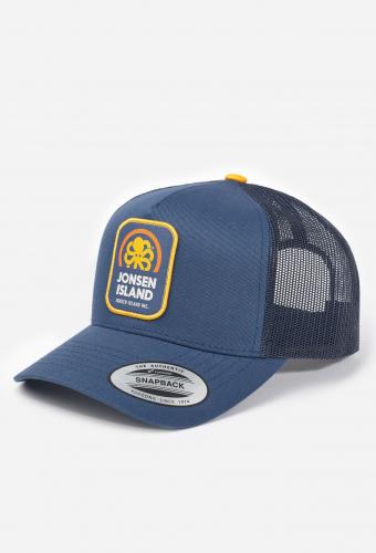 """Trucker Hat """"BIG LABEL"""" Navy"""