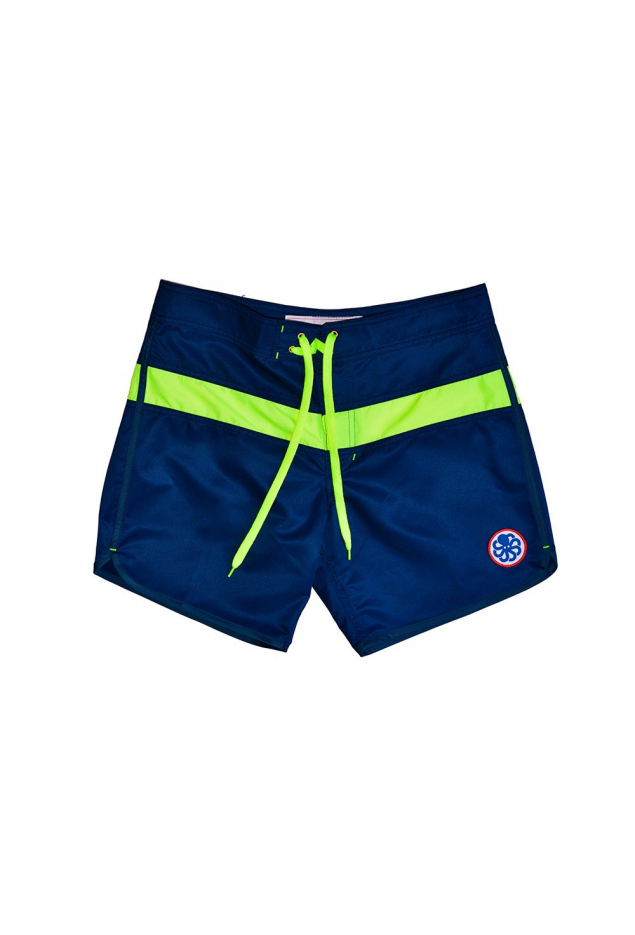 JON ONE STRIPE NAVY / JAUNE FLUO
